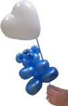 Teddy Bear on Balloon Stick with a heart.